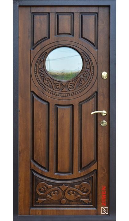 Входная дверь ABWEHR Classic SAP 179 Luck + ковка Vinorit дуб золотой + патина