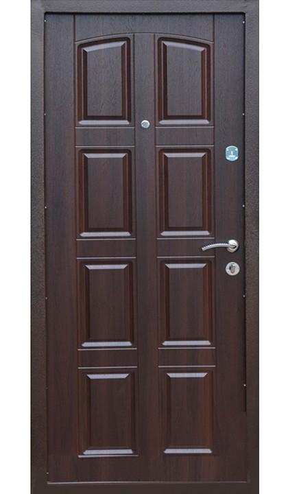 Входная дверь Комфорт металл / мдф 112 темный орех