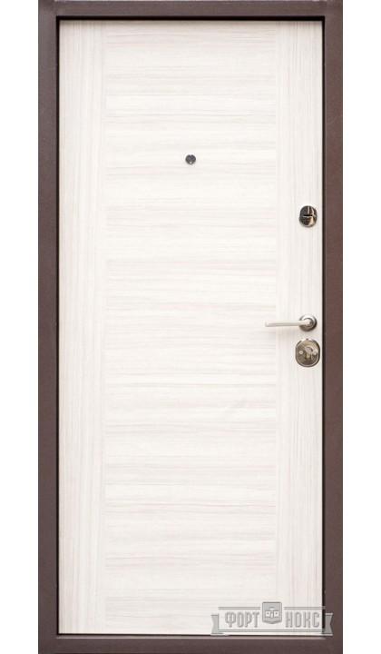 Входная дверь Форт Нокс Оптима 006 тик микс / 018 белый тик микс