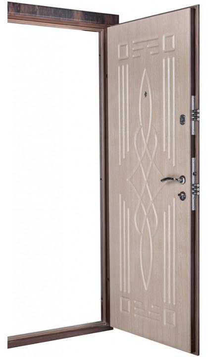 Входная дверь Форт Нокс Оптима DQ-16 тик темный / тик светлый