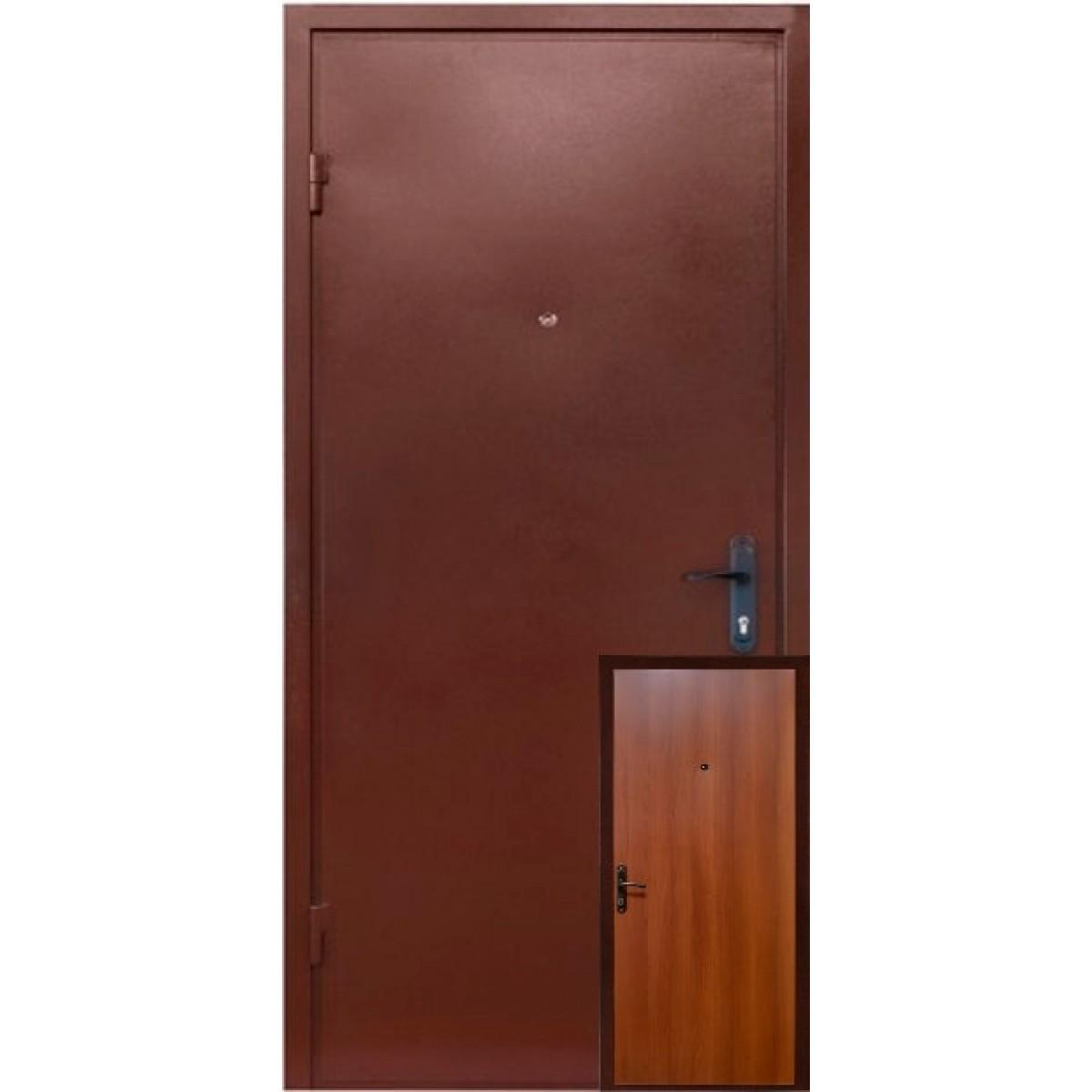 Входная дверь металл / ДСП темный орех 1900 мм