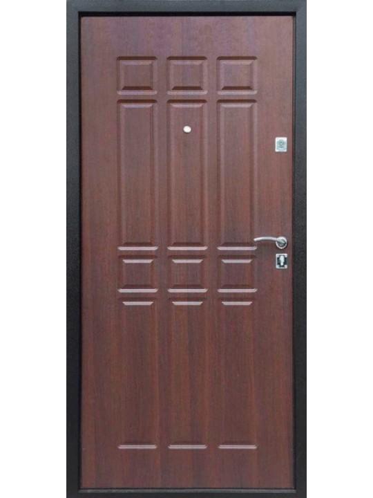 Входная дверь Сопрано металл / мдф шоколадный дуб