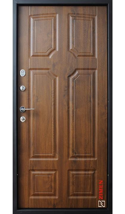 Входная дверь ZIMEN Optima plus Leon Vinorit Дуб темный + патина
