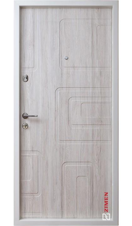 Входная дверь ZIMEN Optima Plus Securemme Dorian New Дуб Глазго