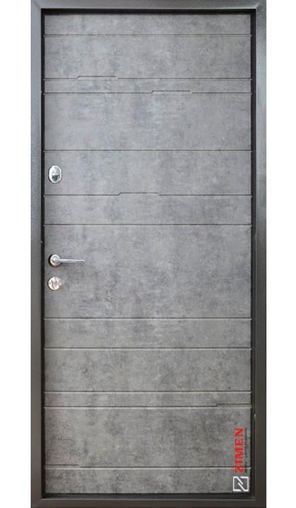 Входная дверь ZIMEN Optima plus Тира мрамор темный+вставка шале графит