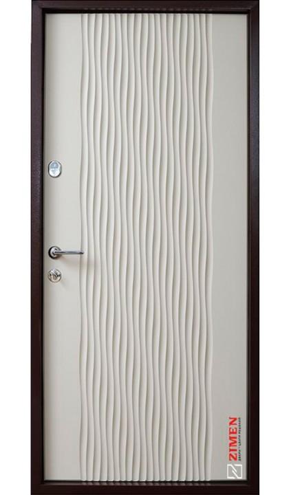 Входная дверь ZIMEN Optima plus Wave Силк куантро / Силк тирамису