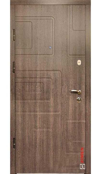Входная дверь ZIMEN Optima Sap Dorian  дуб табак
