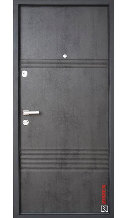 Входная дверь ZIMEN Optima Sap Louna  бетон темный
